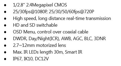 Dahua 2 4megapixel 1080p Water Proof Ir Hdcvi Dome Camera